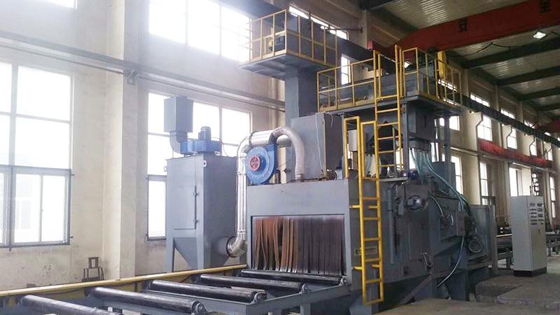 双荣机电订购泰盛机械环保通过式喷砂机