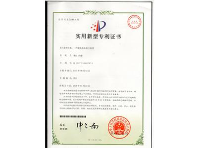 泰盛-抛丸机水除尘装置专利证书