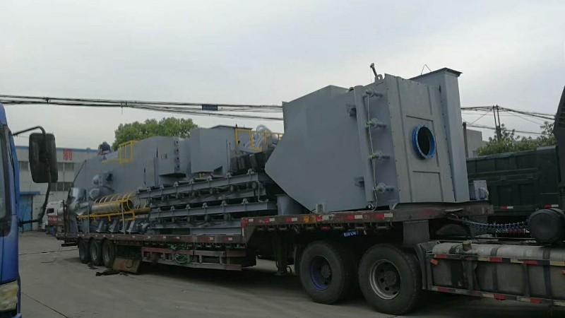 四川客户订购钢结构通过式抛丸机出厂!
